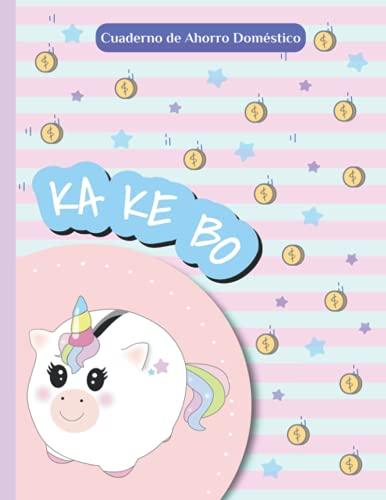 """KAKEBO Cuaderno de ahorro doméstico: Kawaii UNICORNIO   planificación de gastos sin fecha   organizador de presupuesto para 12 meses   8,5x11"""""""