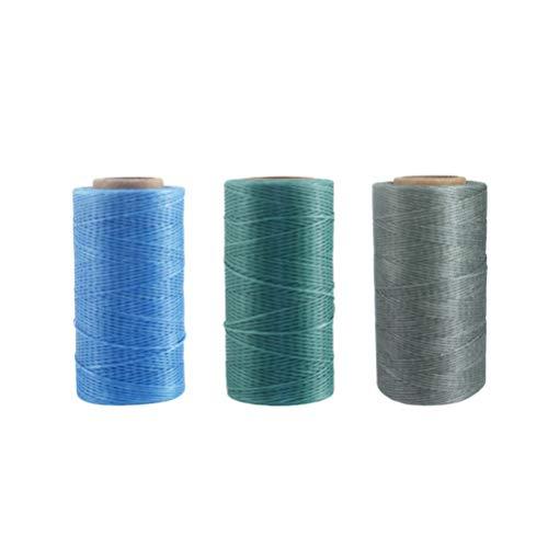 Artibetter 3 Piezas de Cordón Encerado Cordón de Cordón Encerado Cordeles Trenzados para Hacer Joyas Diy Artesanía Rebordear 0. 8 Mm Verde Gris Azul Cielo