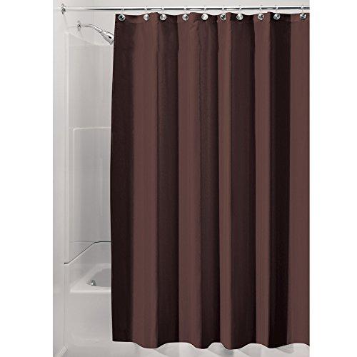 InterDesign Duschvorhang aus wasserdichtem Stoff, 2,5 m, Schokoladenbraun, 72-inch by 96-inch