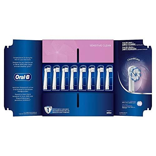 Oral-B Sensitive Clean Aufsteckbürsten mit ultra-dünner Borsten-Technologie, für unsere sanfteste Reinigung, in briefkastenfähiger Verpackung, 8Stück