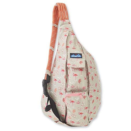KAVU Original Rope Bag Cotton Crossbody Sling - Chillin Flamingo