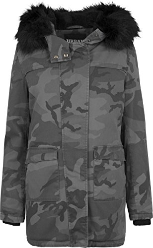 Urban Classics Ladies Overdyed Parka, Camo oscuro, S para Mujer