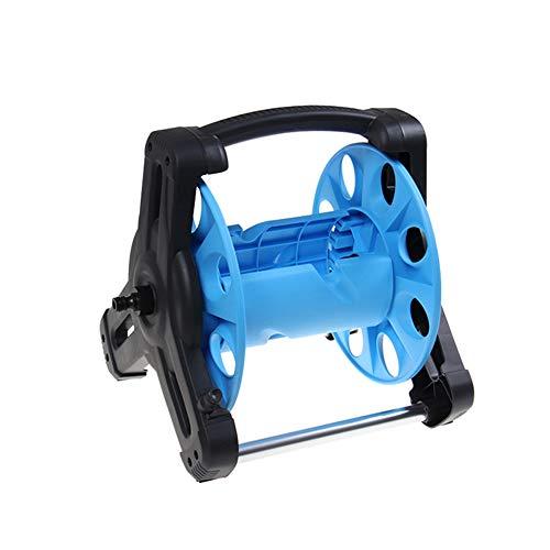 ZDYLM-Y Carro portamangueras Portátil Carro del Tanque de Agua, Capacidad 35 Metros Estante de la Pipa de Agua, Dispositivo de Almacenamiento, Azul