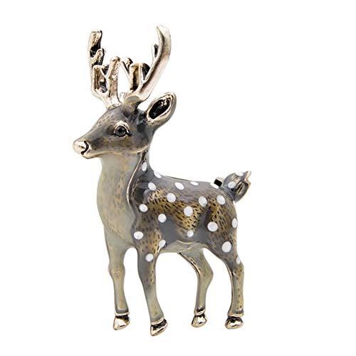 3 colores disponibles lindos pequeños broches de ciervo para mujeres Bucks Sika...