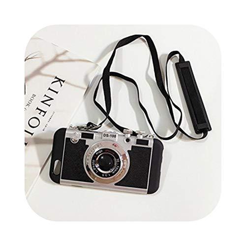 Nuestra Dame - Carcasa para cámara de fotos para iPhone 7, 8 Plus, X, XS y XR 11 Pro Max 6 6S Plus se 2020, funda trasera de lujo, carcasa de regalo, color negro