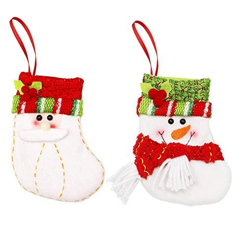 Hcxbb-11 6 stuks adventskalender-geschenk snoepgoed zak-kerstdecoratie - nodigheden leeftijd man sneeuwman-snoepjes-geschenk-zak-karikatuur trompet kerstsokken
