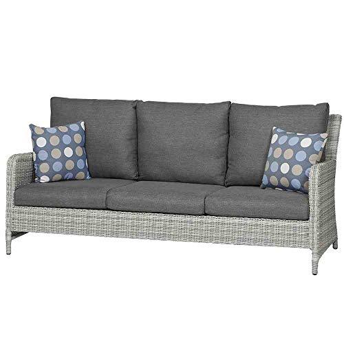 Siena Garden Soria Lounge 3er Sofa, grau