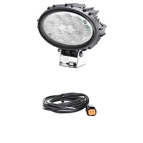 Hella 1GA 996 661-041 Arbeitsscheinwerfer - Oval 100 Thermo Pro - LED - 12V/24V - 1700lm - Anbau/Bügelbefestigung - Nahfeldausleuchtung + Kabelsatz, Arbeitsscheinwerfer, Schwarz