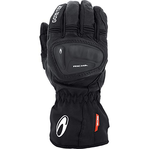 Richa Motorradhandschuhe lang Motorrad Handschuh Hurricane Gore-Tex Handschuh schwarz XL, Unisex, Tourer, Ganzjährig, Leder