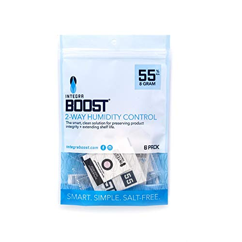 Integra Boost 55-Percent RH 2-Way Humidity Control, 8 Gram - 6 Pack !! New & Improved !!… (8 Gram)