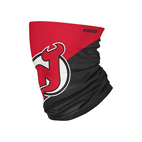 New Jersey Devils NHL Big Logo Gaiter Scarf (SVNHCBBLPRFC), Large