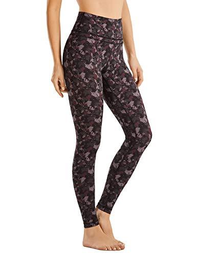CRZ YOGA Mujer Mallas Deportivo Pantalón Elastico para Running Fitness-71cm Patrón de Textura 5 38