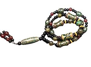 ZHIBO Tibet Old Achat Dzi Perlen Halskette Schmuck senden Zertifikat
