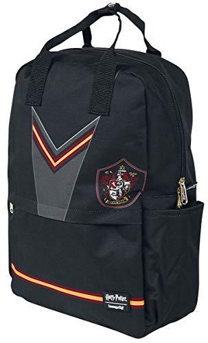 Loungefly x Harry Potter Gryffindor Uniform Suit Nylon Backpack (Black Multi, One Size)
