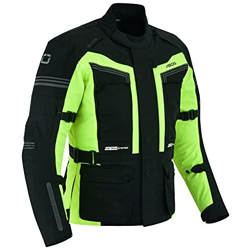 BOSmoto Motorradjacke Herren Motorrad Jacke Wasserdicht Winddicht mit Protektoren Protektoren Jacke Roller Biker Touren (4XL)