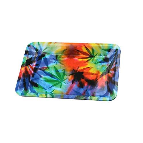 Imagen del productoLsgepavlion - Cenicero en forma de bandeja (180 x 125 mm), diseño de hojas estrelladas, metal, Hojas, talla única