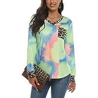 Jelly Baby Womens Tie Dye Gradient Rainbow Long Sleeved T Shirt