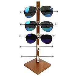 Giplar Brillen Organizer brillenständer Holz Sonnenbrillenablage Gläser Halter Stand - Holzfarbe