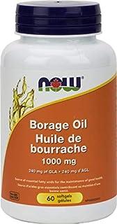 NOW Borage Oil 1000mg 60 Softgels, 40 g