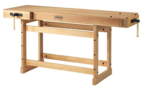 Sjöbergs Woodworkers Cabinetmaking Scandi Plus 1825 Work Bench with Two Large Vices, SJO-33279, Natural