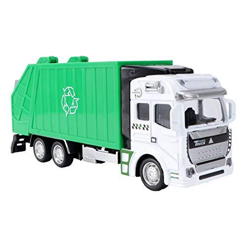 TOYANDONA 1 Unidad de Camión de Reciclaje de Coche con Fricción Respetuoso con El Medio Ambiente Juguete Educativo Seguro Camión de Basura Coches de Tracción para Niños Pequeños