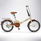 Deportes al aire libre, bicicleta para adultos, señoras que llevan ligeramente hombres de negocios, órdenes de turno pequeñas-partido superior de velocidad - Beige_50 cm, bicicleta de doble suspensión