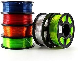 إكسسوارات الطابعة 6 قطع خيط طابعة ثلاثية الأبعاد PETG 1.75 مم 1 كجم/2.2 رطلًا مواد PETG لطابعة ثلاثية الأبعاد (اللون: أصفر...