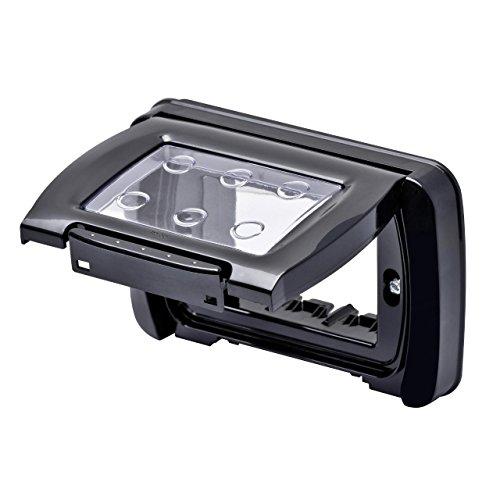 Gewiss 22452 Placca, Stagna Autoportante, Serie System, Nero