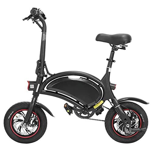 Liu Yu·casa creativa Bicicleta eléctrica Plegable for Adultos Ligero eléctrico de Bicicleta eléctrica 40 0w 48v Scooter eléctrico Plegable eléctrico (Color : Negro, tamaño : 400w)