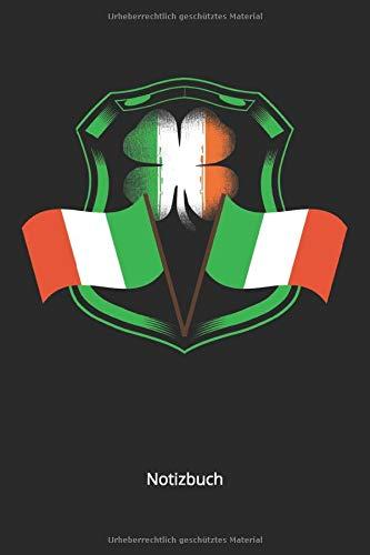 Notizbuch: Irische Fahne für Irland Fans und Patrioten(Liniertes Notizbuch mit 100 Seiten für Eintragungen aller Art)
