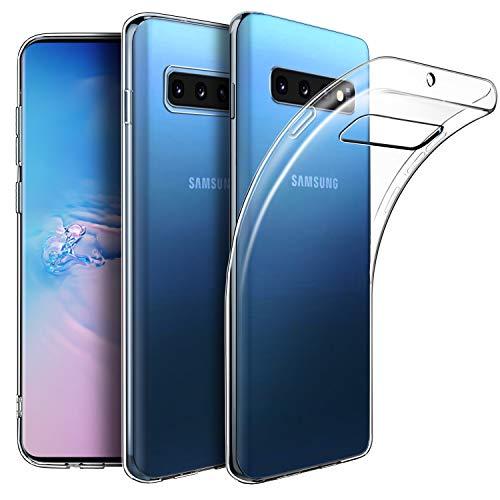 EasyAcc Hülle Case für Samsung Galaxy S10, Dünn Crystal Clear Transparent Weich Handyhülle Cover Soft Premium-TPU Durchsichtige Schutzhülle Kompatibel mit Samsung Galaxy S10