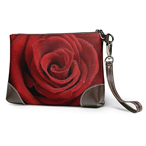 Porte-Monnaie Heart of A Red Rose Portable Travel Toiletry Bag Makeup Organizer Cosmetic Bag Pouch for Women Girl