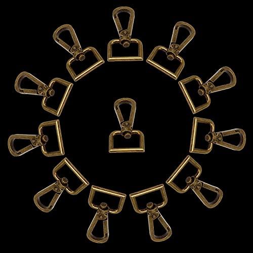 Trimming Shop Ganchos giratorios con cierre de pinza de langosta con cierre de mosquetón, correa de sujeción, llaveros, collares para mascotas y accesorios para bolsos, 18 mm, bronce, 1 pieza