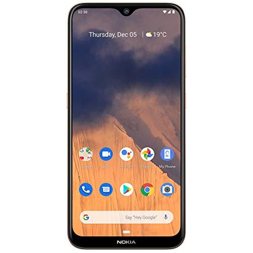 Nokia 2.3 Dual SIM Smartphone 6,21 Zoll (15,7 cm), 32GB Interner Speicher, 2 GB LPDDR 4 RAM, 13 MP Hauptkamera, 5 MP Frontkamera, Android 9, Sand