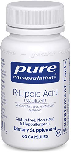 Pure Encapsulations - R-Lipoic Acid (Stabilized) - Hypoallergenic Supplement with Enhanced Antioxidant Protection and Metabolic Support - 60 Capsules