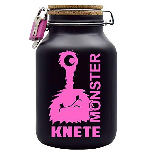 Spardose Monster Knete Pink Geld Geschenk Idee Schwarz XXL