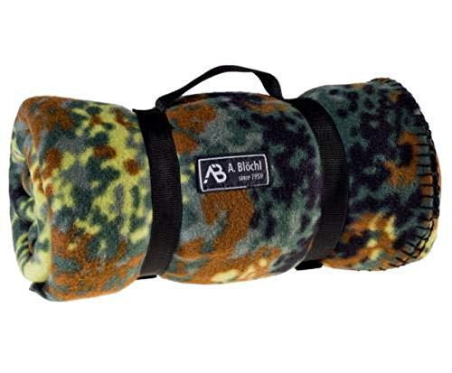 AB Manta de vellón Estilo US Army para Camping o Picnic (200 x 140 cm/Camuflaje)