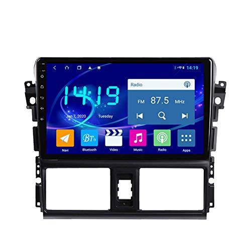 BBGG GPS 4GB + 64 G De Navegación por Satélite Estéreo De 10 Pulgadas De 10 Pulgadas con Bluetooth Teléfono Manos Libres/Reversión De Video/DVD Radio/FM/Am/WiFi, Adecuado para Toyota VIOS 14-16