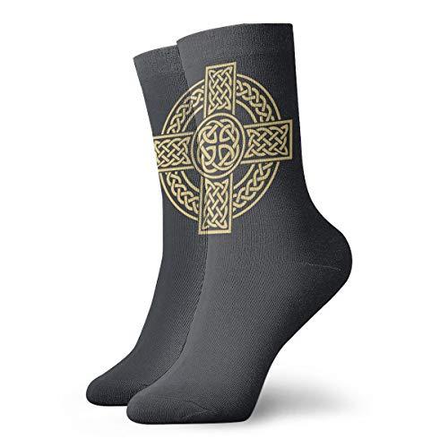 Celtic Cross Irish Scottish Socks Men's Women's Athletic Soccer Dress Socks Crazy Crew Socks
