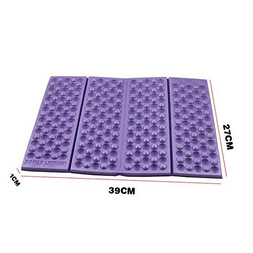 Axjzh Outdoor Ultraléger Petit Tapis de Mousse Pliable Mousses de Pique-Nique Tapis de Couchage Anti-Humidité 39 * 27 * 1, Purple, 5