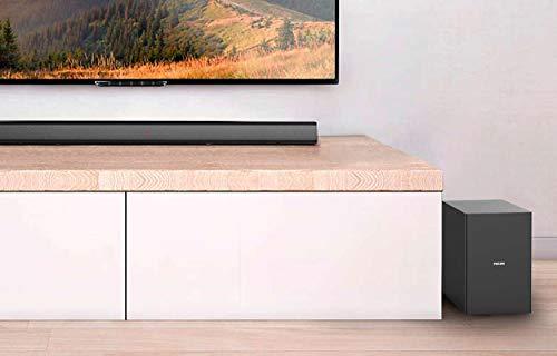 Philips Soundbar Bluetooth HTL1520B/12 Bluetooth Soundbar (Bluetooth, Kabelloser Subwoofer, HDMI ARC, 3,5-mm-Audioeingang, Flaches Design, 70 Watt) Schwarz
