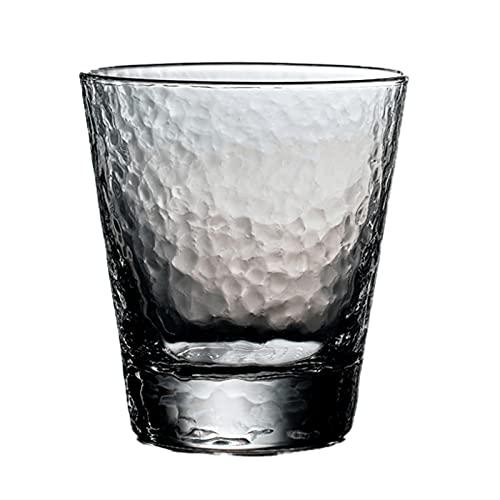 Vetro di vetro martellato di cristallo 4 pezzi 10oz senza piombo whisky whisky di vetro e bevande tazza di vetro set di bicchiere