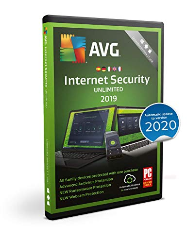 AVG Internet Security 2019 | Unbegrenzt | 1 Jahr | Box