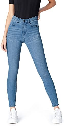 find Women s Skinny High Rise Stretch Jeans Blue Light Wash W30 x L32 product image