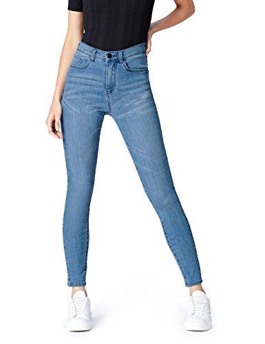 Marchio Amazon - find. Jeans Skinny Vita Regular Donna, Blu (Light Wash), 32W / 32L, Label: 32W / 32L