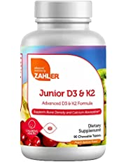 Zahler Junior D3 K2 Chewable 2000IU, Great Tasting Chewable Vitamin D with K2 for Kids, Vitamin D3 2000 IU and K2 for Children, Certified Kosher (D3 &K2)