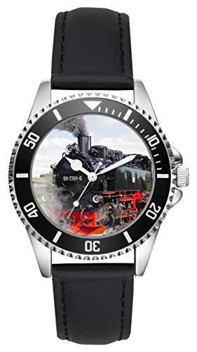 Eisenbahn Dampflok Geschenk Artikel Idee Fan Uhr L-2796