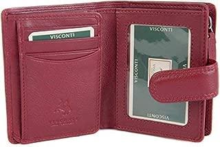 Visconti Femmes Sac à main en cuir souple portefeuille marron 16 Cartes NEUF dans boîte cadeau HT33