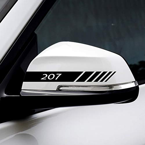 NMDNNJ Pegatinas Protectoras Impermeables para Espejo Retrovisor De Coche 2 Piezas para Peugeot 107 108 206 207 308 307 508 2008 3008