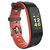 OMNiX iWOWN i6 HR-C Fitness Tracker with Full Color Screen with HD Quality and Auto Brightness (Red)